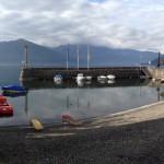 Boats docked at Lake Maggiore