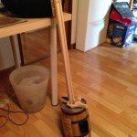 A single string bass Davide made when he was younger