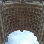 The ceiling of the previous monument