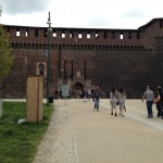 Walking into a castle in the heart of Milan