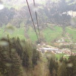 Looking out the cable car