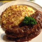 Lamb sausage and rosti