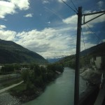 Train ride to Switzerland