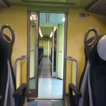Train ride from Luino to Milan