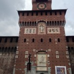 Front of the castle in the heart of Milan
