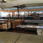 Empty fish market in Venice