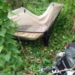 My hammock in La Spezia, Italy