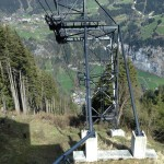 Cable car ride down to Lauterbrunnen